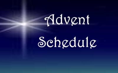 Advent Worship Schedule