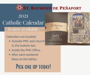 Catholic Calendar now available