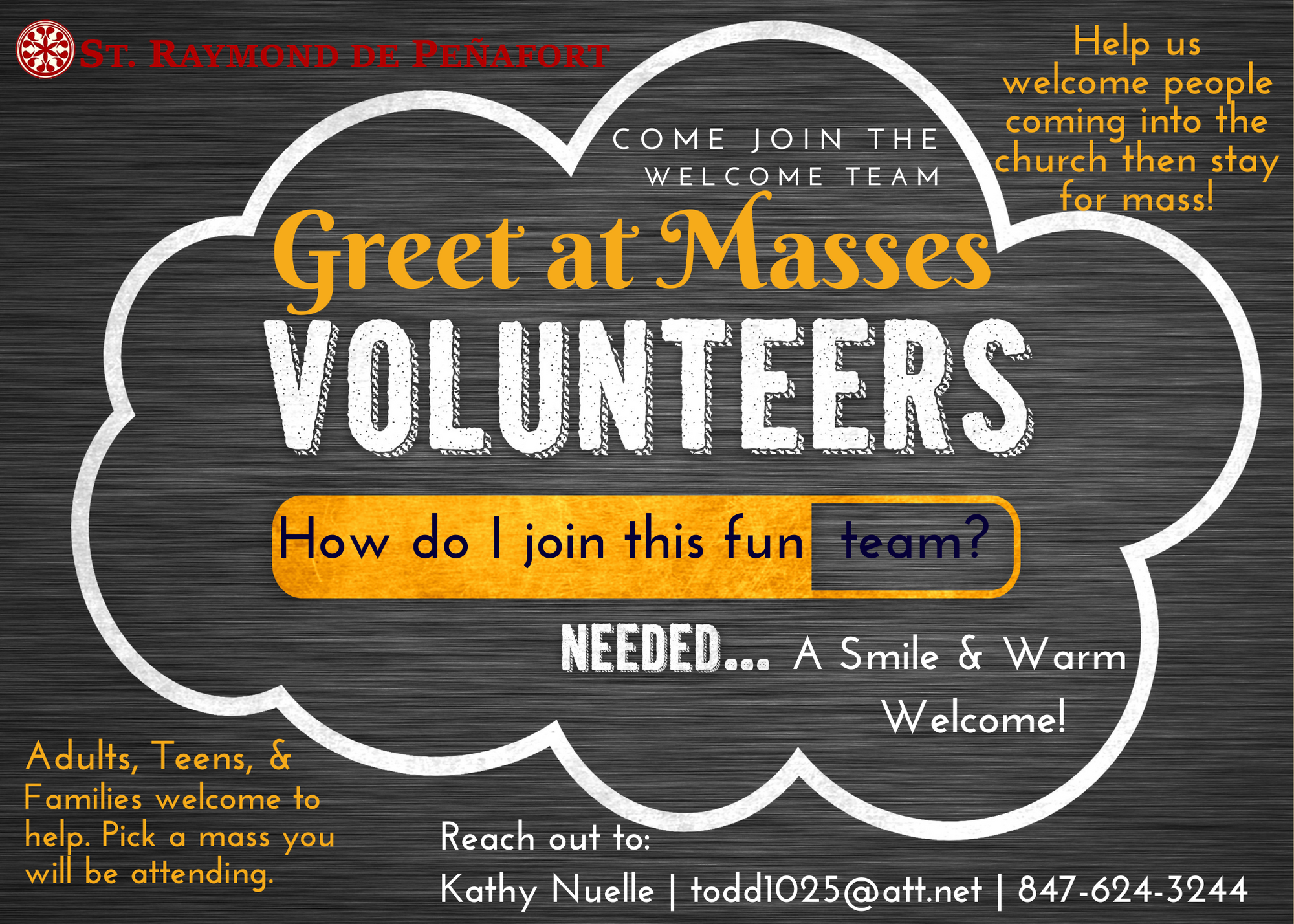 Greeters Needed