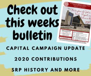 This weeks Bulletin