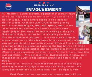 Election Judge invitation