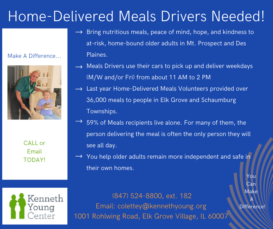 Can you help deliver meals with the Kenneth Young Center
