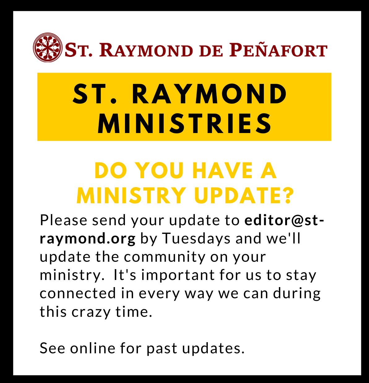 Ministry Updates
