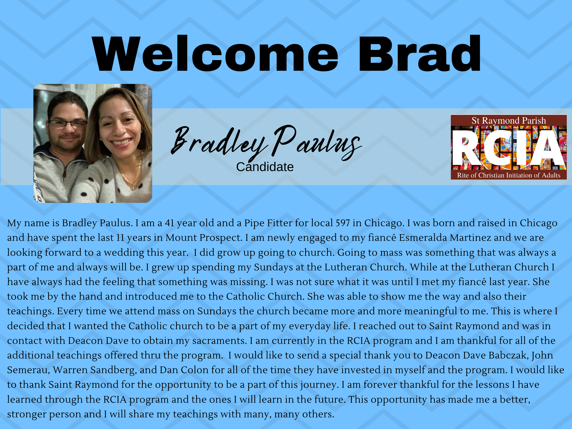 Welcome Brad