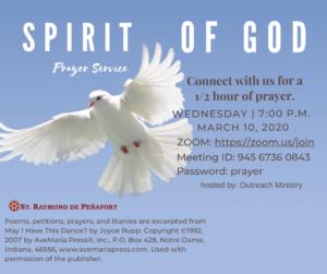 Outreach Ministry Prayer Service