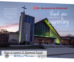 Thank you for supporting the parish.