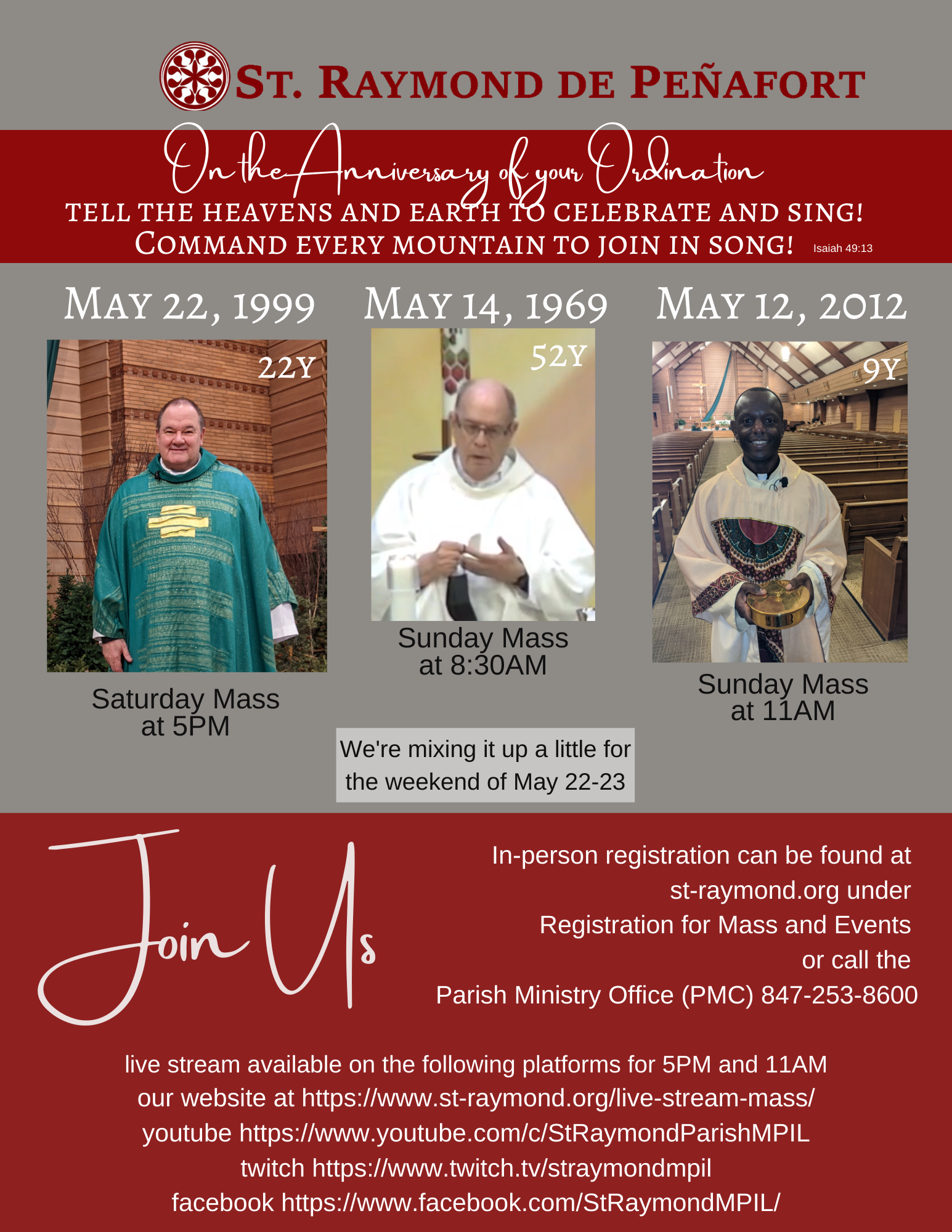 Ordination Anniversaries