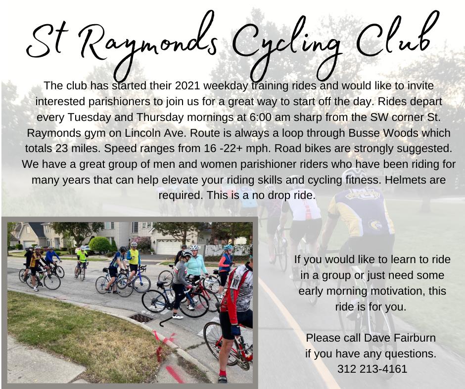 St Raymond's Cycling Club 2021