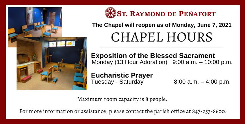 Chapel hours June 2021