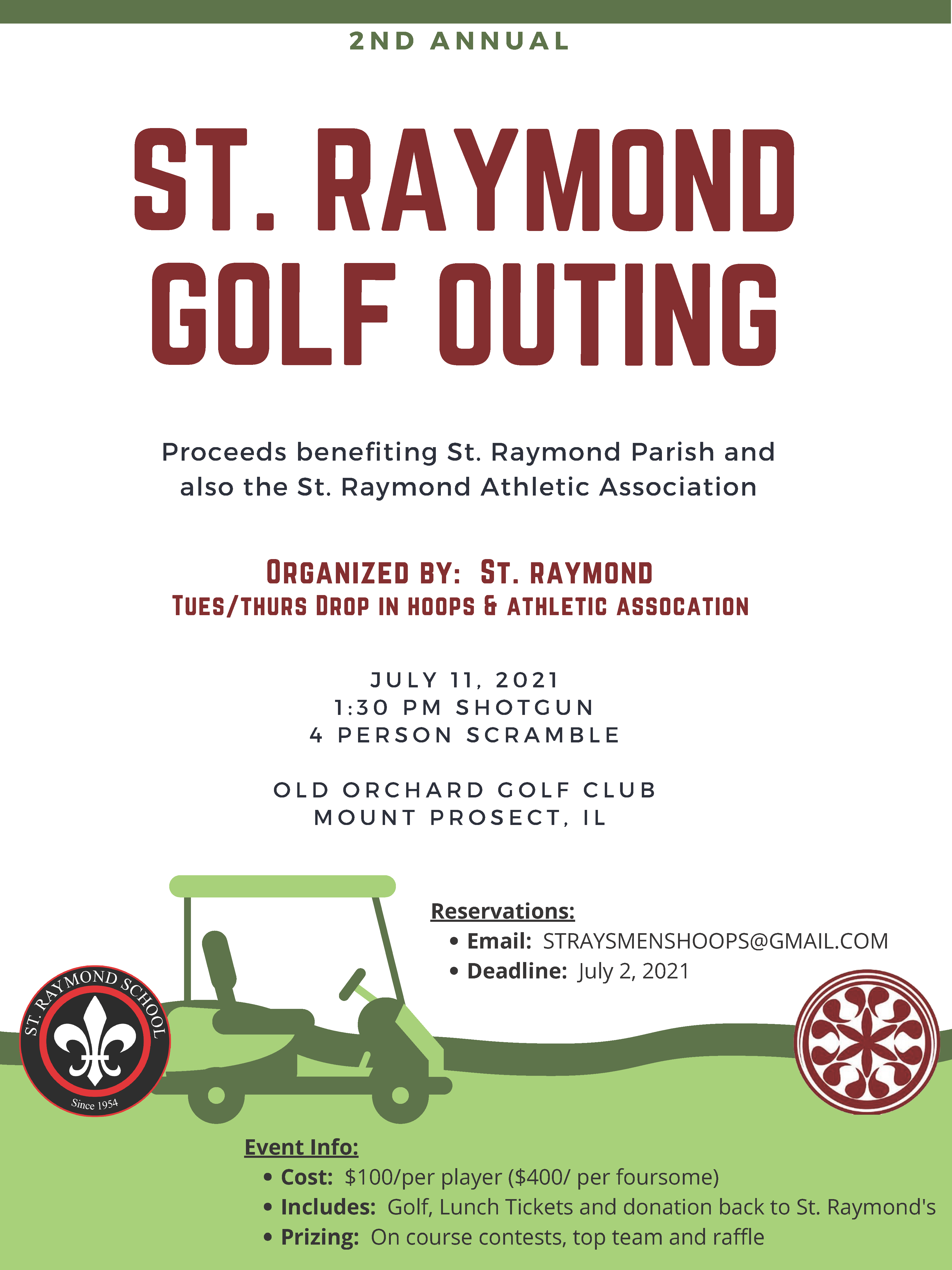 Golf outing flyer 2021