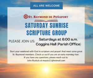 Saturday Sunrise Scripture Group