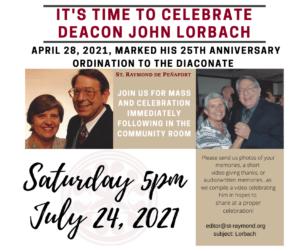 Deacon John Lorbach celebration 072421