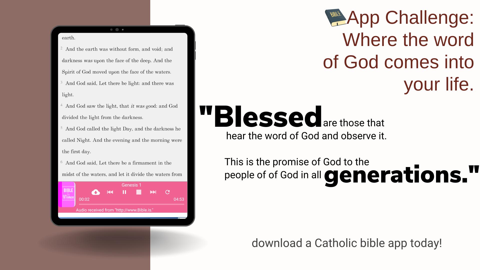 Fr Scott's App challenge