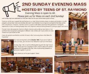 2nd Sunday Evening Mass