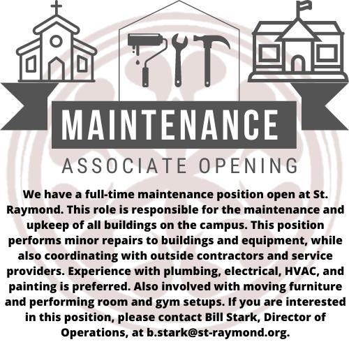 Maintenance Position 2021