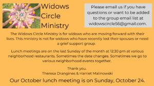 Widow Circle invitation